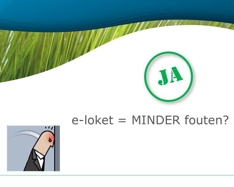 e-loket = MINDER fouten JA