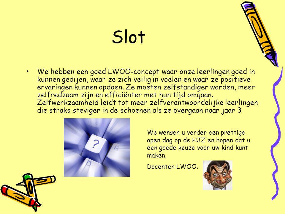 Slot •We hebben een goed LWOO-concept waar onze leerlingen goed in kunnen gedijen, waar ze zich veilig in voelen en waar ze positieve ervaringen kunne