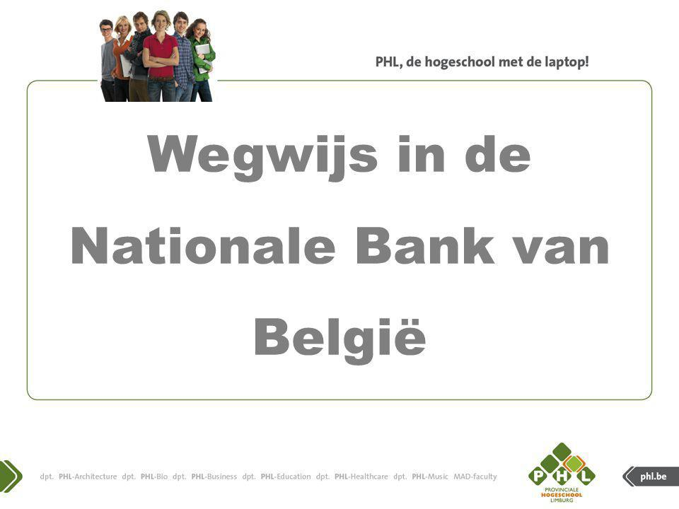 Handleiding voor het gebruik van de databank van de Nationale Bank van België.