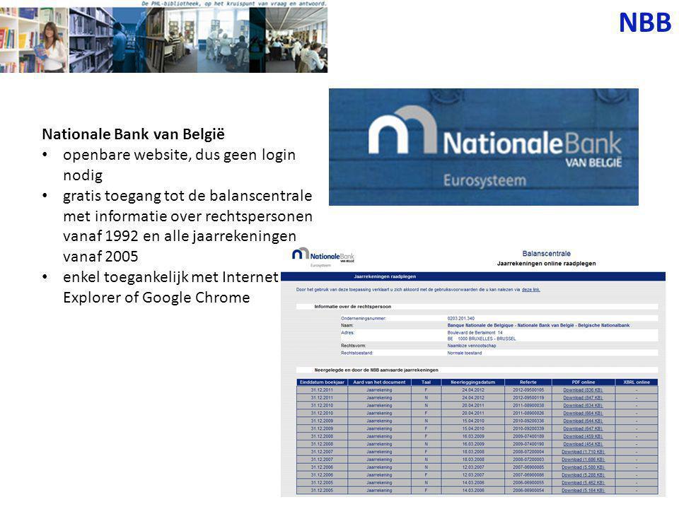 1. Ga naar www.nbb.be. Kies je taal.www.nbb.be NBB
