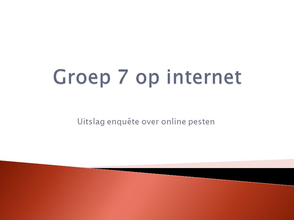 Uitslag enquête over online pesten