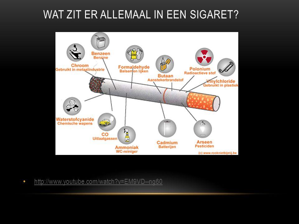 HUID • Meer rimpels en diepere rimpels • Meer wallen rond ogen • Snellere veroudering • Gele vingers • Tragere genezing van wonden • Sneller en meer ontstekingen • http://www.schooltv.nl/beeldbank/clip/20080715_nicotine01 http://www.schooltv.nl/beeldbank/clip/20080715_nicotine01