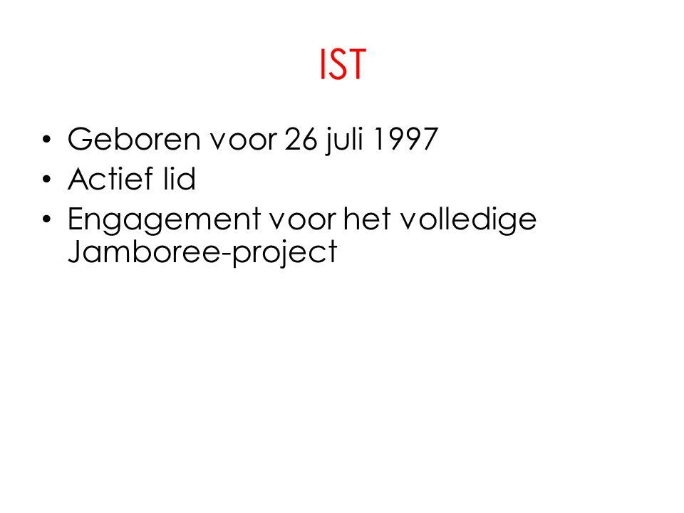 IST • Geboren voor 26 juli 1997 • Actief lid • Engagement voor het volledige Jamboree-project