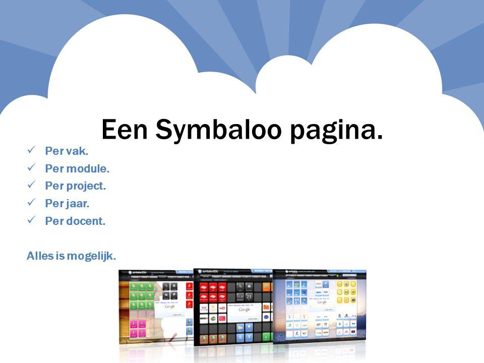 Een Symbaloo pagina. Per vak.  Per module.  Per project.