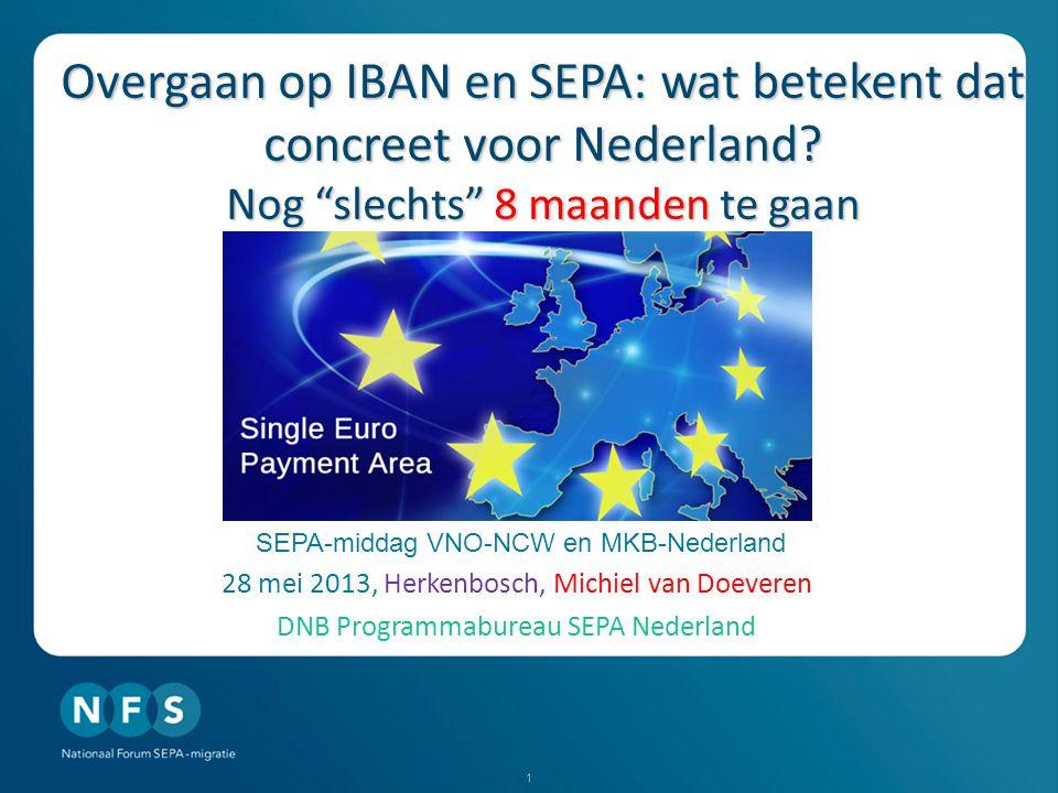 1 Overgaan op IBAN en SEPA: wat betekent dat concreet voor Nederland.
