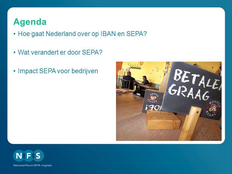 Agenda •Hoe gaat Nederland over op IBAN en SEPA.•Wat verandert er door SEPA.