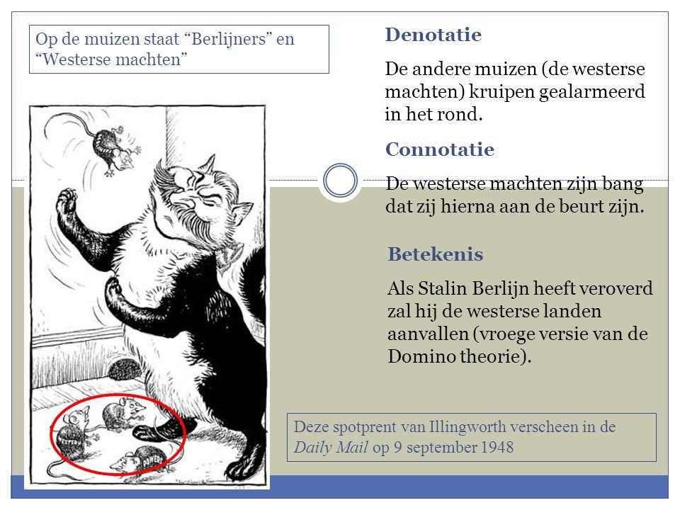 Denotatie De andere muizen (de westerse machten) kruipen gealarmeerd in het rond.