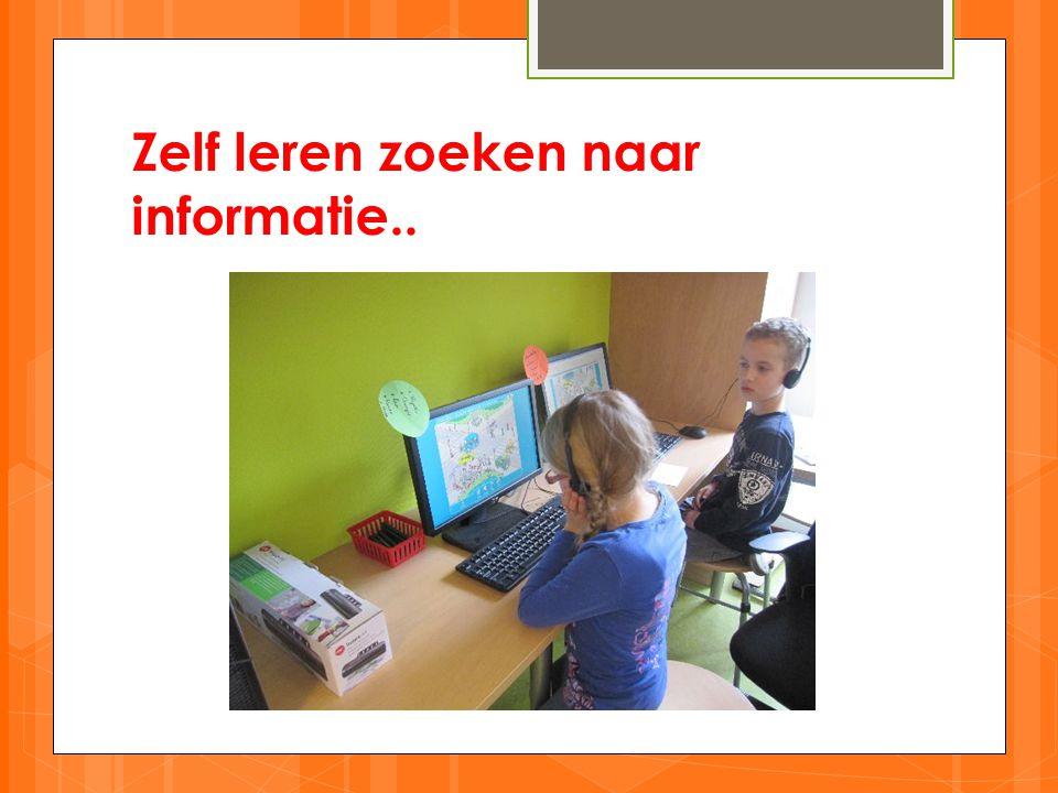 Zelf leren zoeken naar informatie..