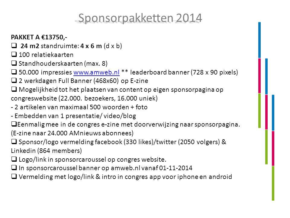 PAKKET A €13750,-  24 m2 standruimte: 4 x 6 m (d x b)  100 relatiekaarten  Standhouderskaarten (max.