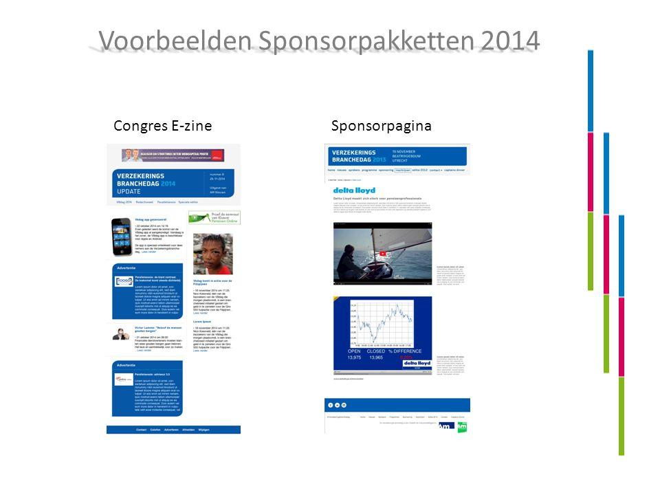 Voorbeelden Sponsorpakketten 2014 Congres E-zineSponsorpagina