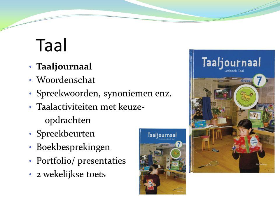 Taal • Taaljournaal • Woordenschat • Spreekwoorden, synoniemen enz.