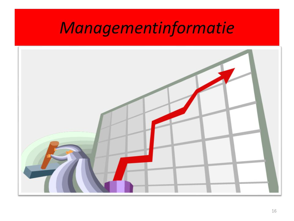 Managementinformatie 16