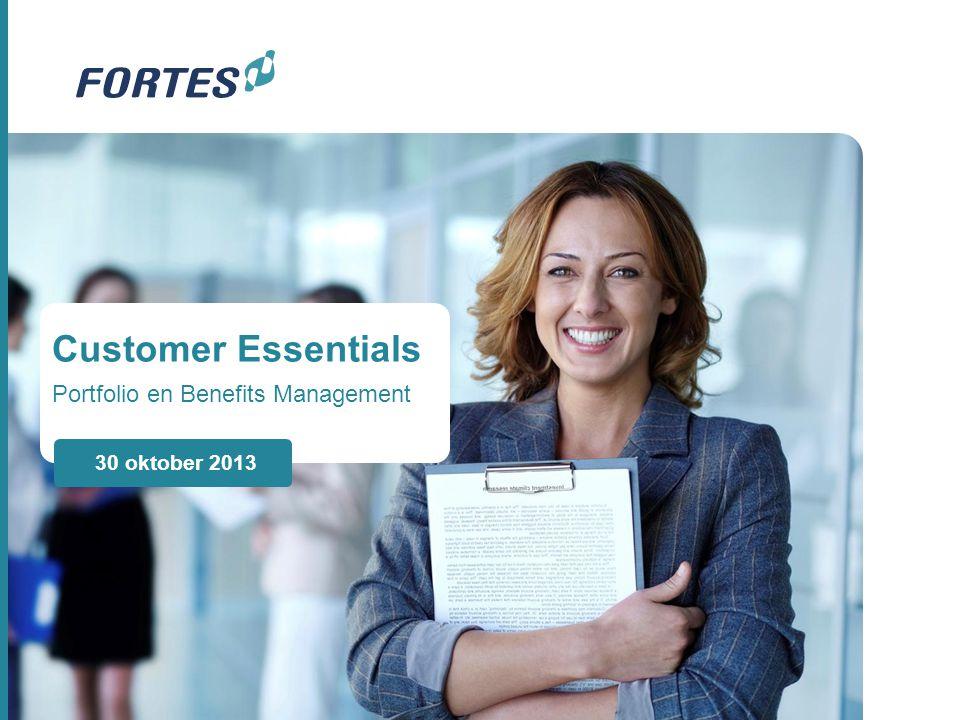 Customer Essentials Portfolio en Benefits Management 30 oktober 2013