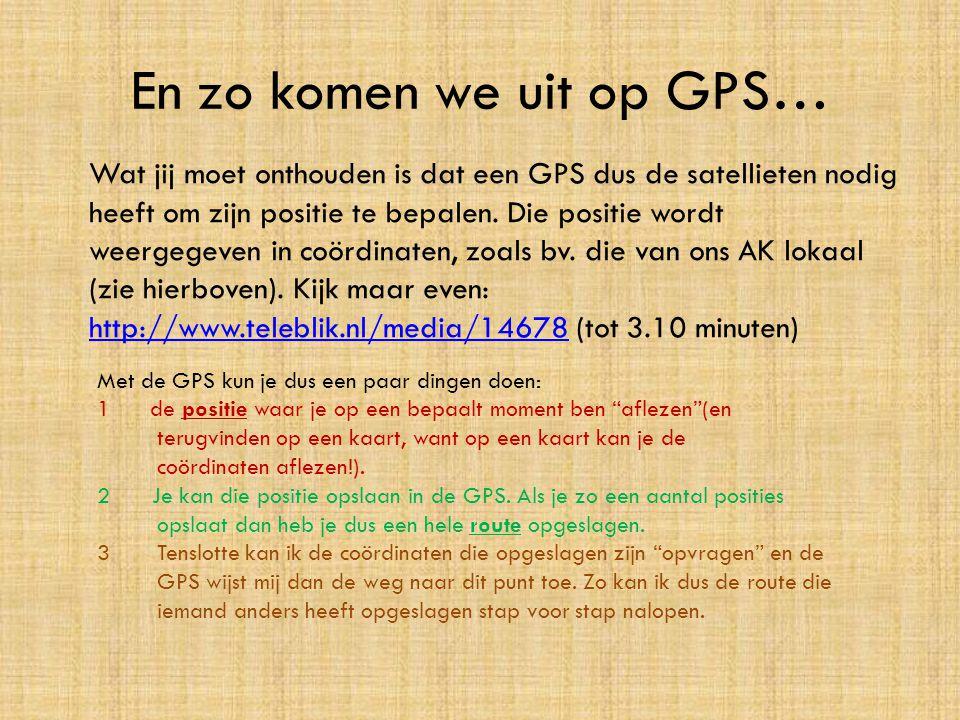 En zo komen we uit op GPS… Wat jij moet onthouden is dat een GPS dus de satellieten nodig heeft om zijn positie te bepalen. Die positie wordt weergege