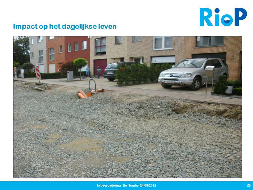 Infovergadering De Sombe 24/09/2012 26 Impact op het dagelijkse leven