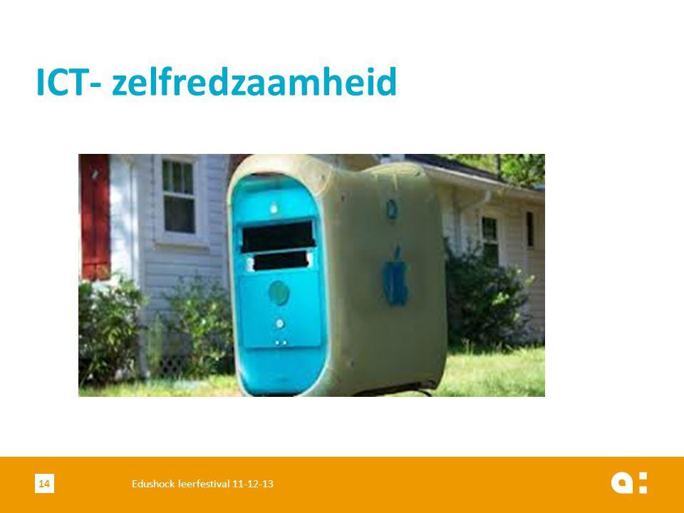 ICT- zelfredzaamheid 14Edushock leerfestival 11-12-13