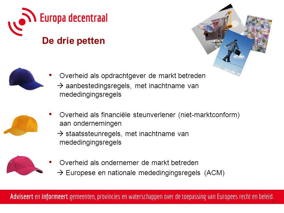 Europees aanbesteden en mededinging Waar raakt aanbesteden mogelijk mededinging.