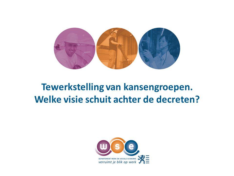 Kader - situering Vlaams Regeerakkoord Sociale Economie => 2 pijlers: Lokale Diensteneconomie Maatwerk • Beschutte werkplaatsen • Sociale werkplaatsen • Invoegmaatregel Hervorming van de ondersteuningsinstrumenten