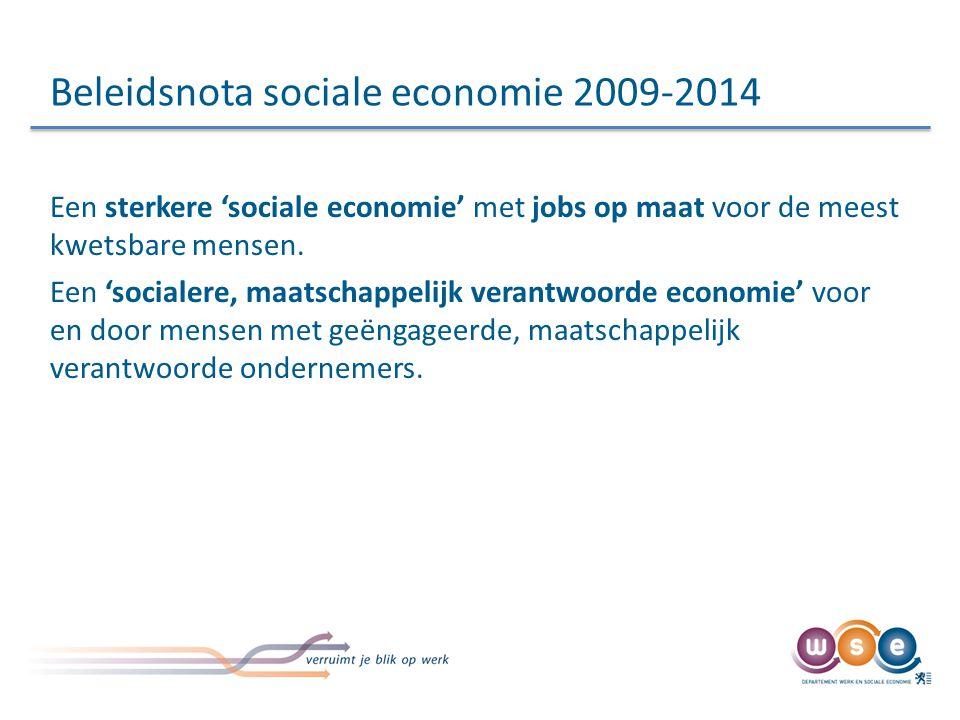 Doelstellingen hervorming Eenduidig kader voor collectieve professionele inschakeling van de zwaksten op de arbeidsmarkt.