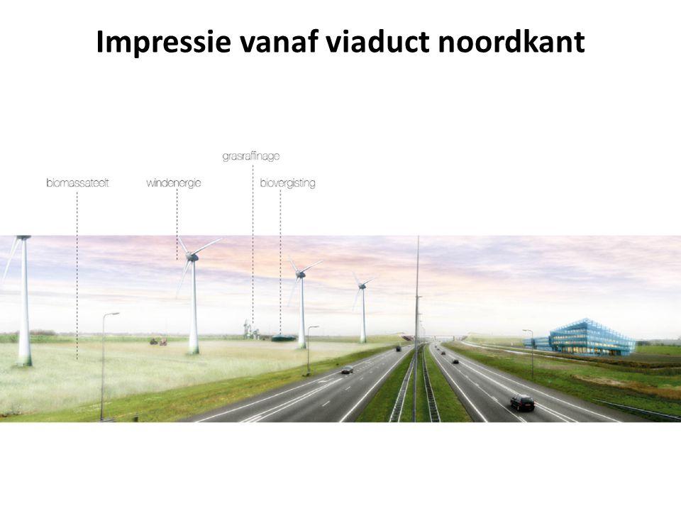 Impressie vanaf viaduct noordkant