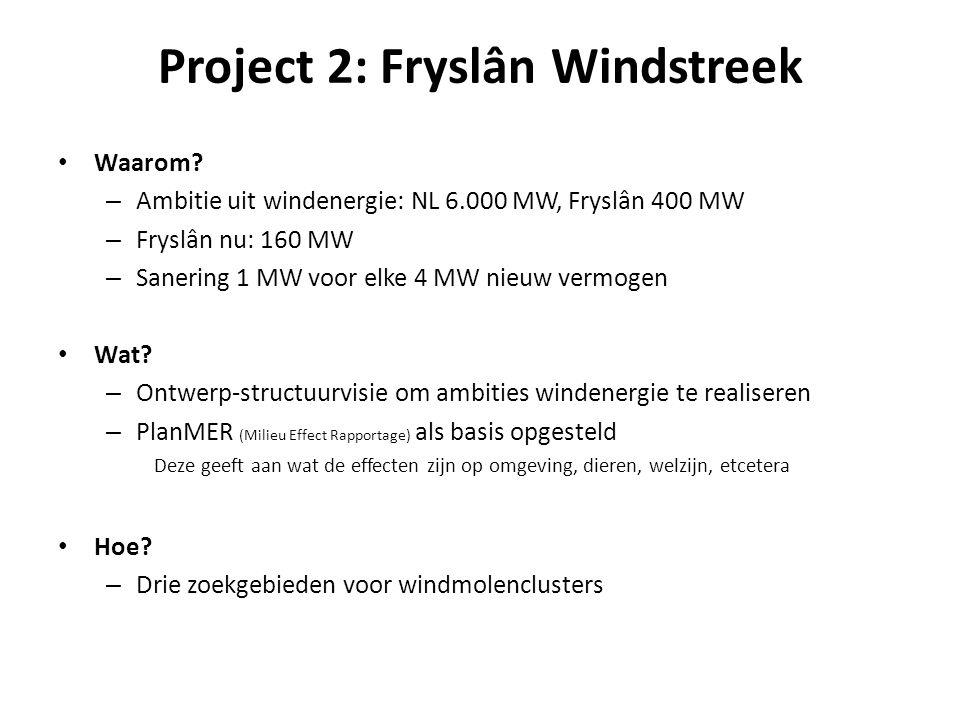 Project 2: Fryslân Windstreek • Waarom.