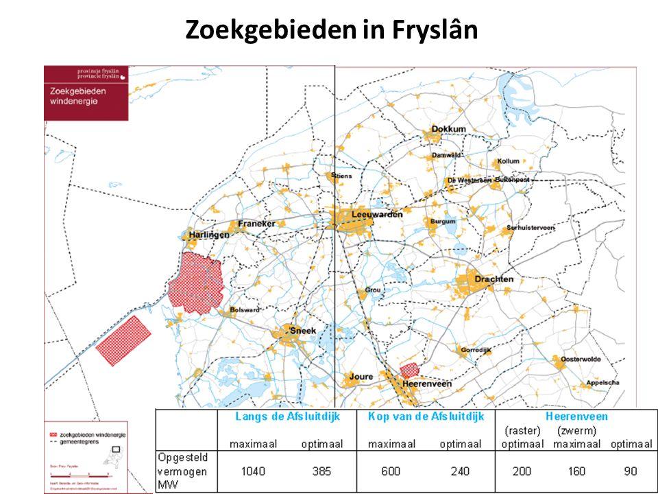 Zoekgebieden in Fryslân