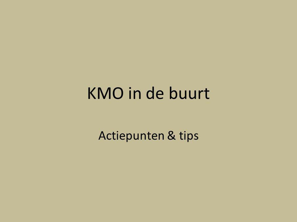 KMO in de buurt Actiepunten & tips