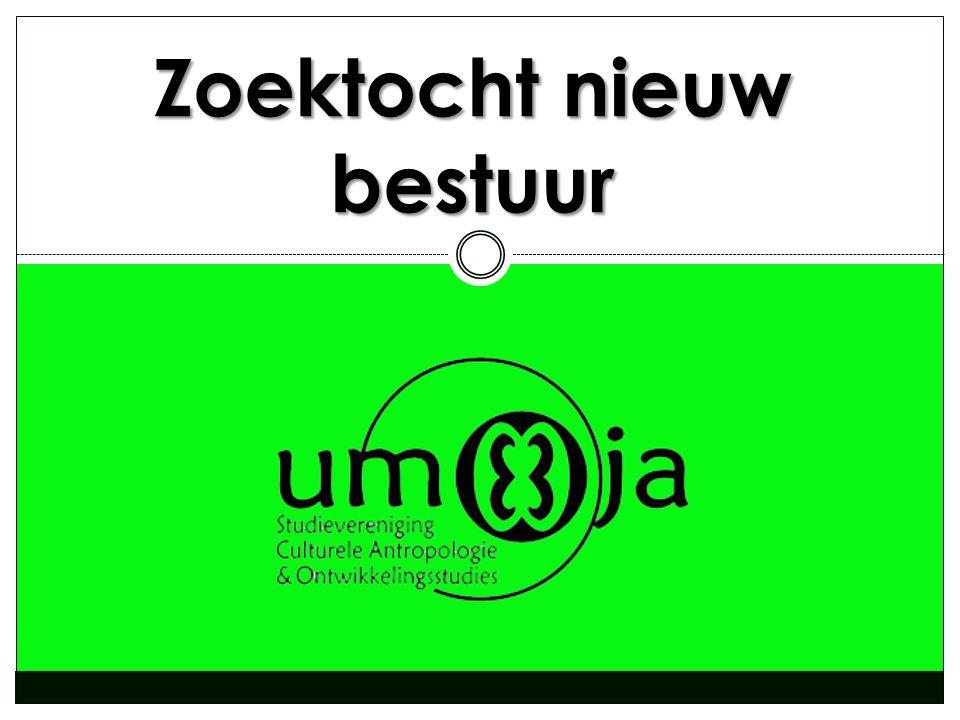 Praktische informatie  Schrijf een motivatiebrief met je 1 e en 2 e keuze hierin overtuig je het bestuur ervan waarom jij perfect zou zijn voor een functie binnen het bestuur van 2014- 2015  Stuur deze samen met je cv op naar umoja@student.ru.nl umoja@student.ru.nl  Deadline is 8 mei 2014  Sollicitaties zullen plaatsvinden in week 20  Deze powerpoint zal op www.umoja-nijmegen.nl terug te vinden zijnwww.umoja-nijmegen.nl  Bij vragen kun je altijd bij de leden van het bestuur terecht  Schroom niet, vraag bijvoorbeeld ook eens om het draaiboek van een bepaalde functie te lezen in de Umojakamer