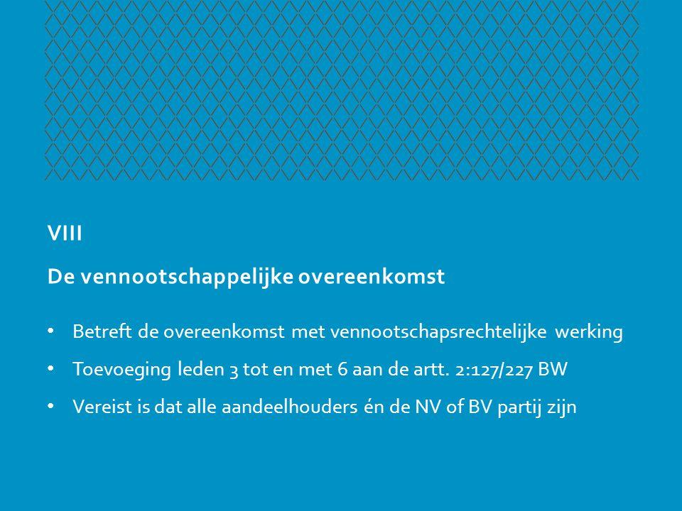 XIX Grensoverschrijdende (cross-border) omzetting • Omzetting in een buitenlandse rechtspersoon of omgekeerd werd vroeger zetelverplaatsing genoemd • De NV en BV kunnen door middel van omzetting emigereren (art.