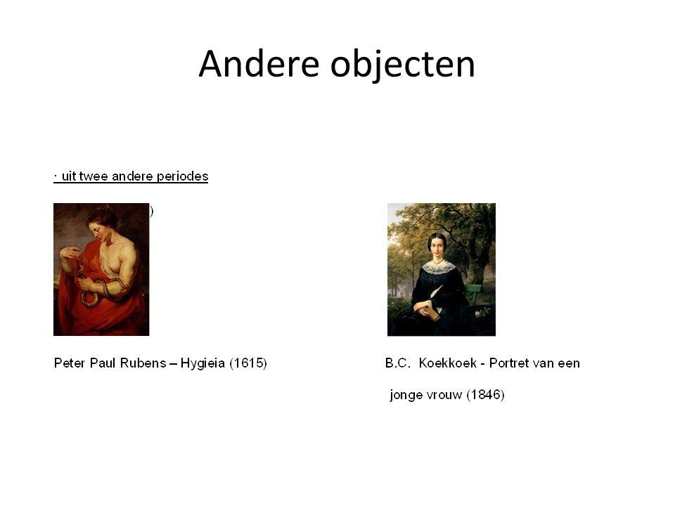 Vergelijking andere objecten