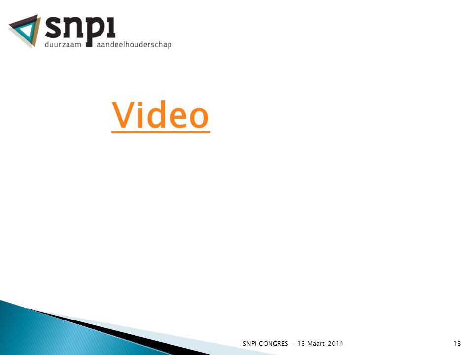 SNPI CONGRES - 13 Maart 201413 Video