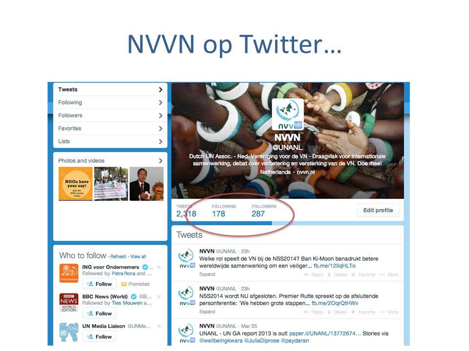 NVVN op Twitter…