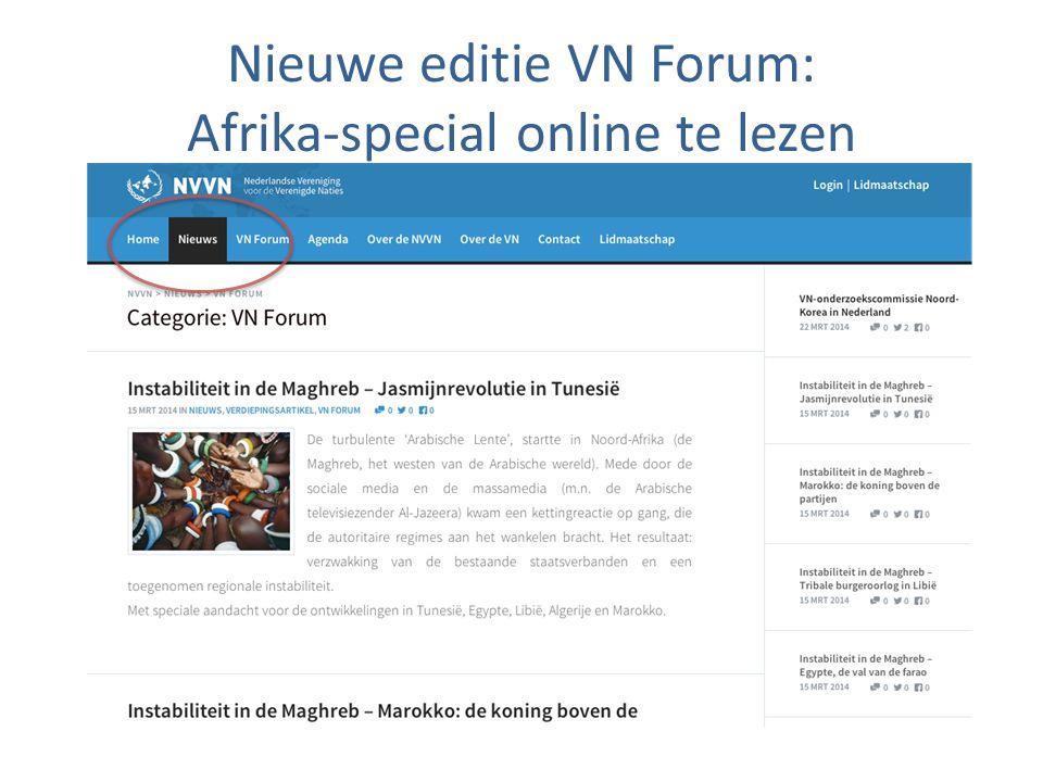 Nieuwe editie VN Forum: Afrika-special online te lezen