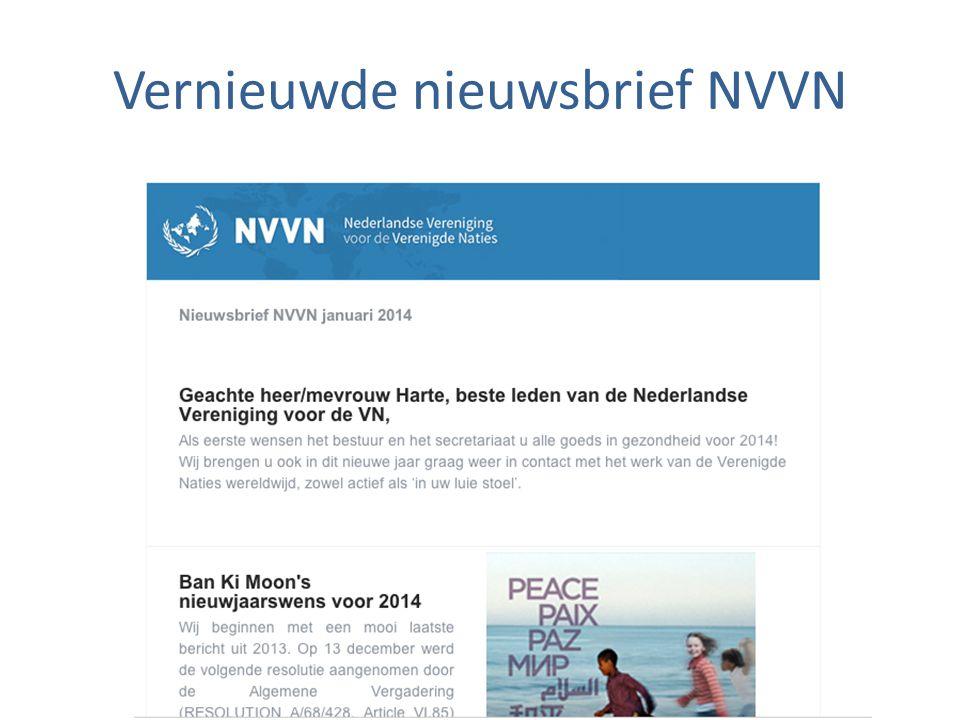 Vernieuwde nieuwsbrief NVVN