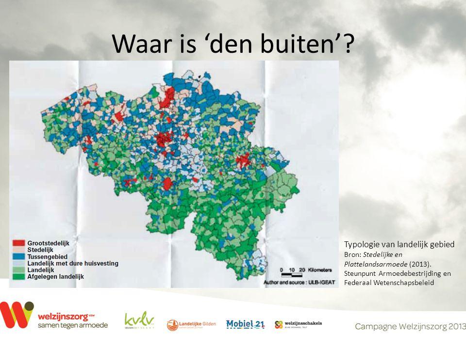 Waar is 'den buiten'. Typologie van landelijk gebied Bron: Stedelijke en Plattelandsarmoede (2013).