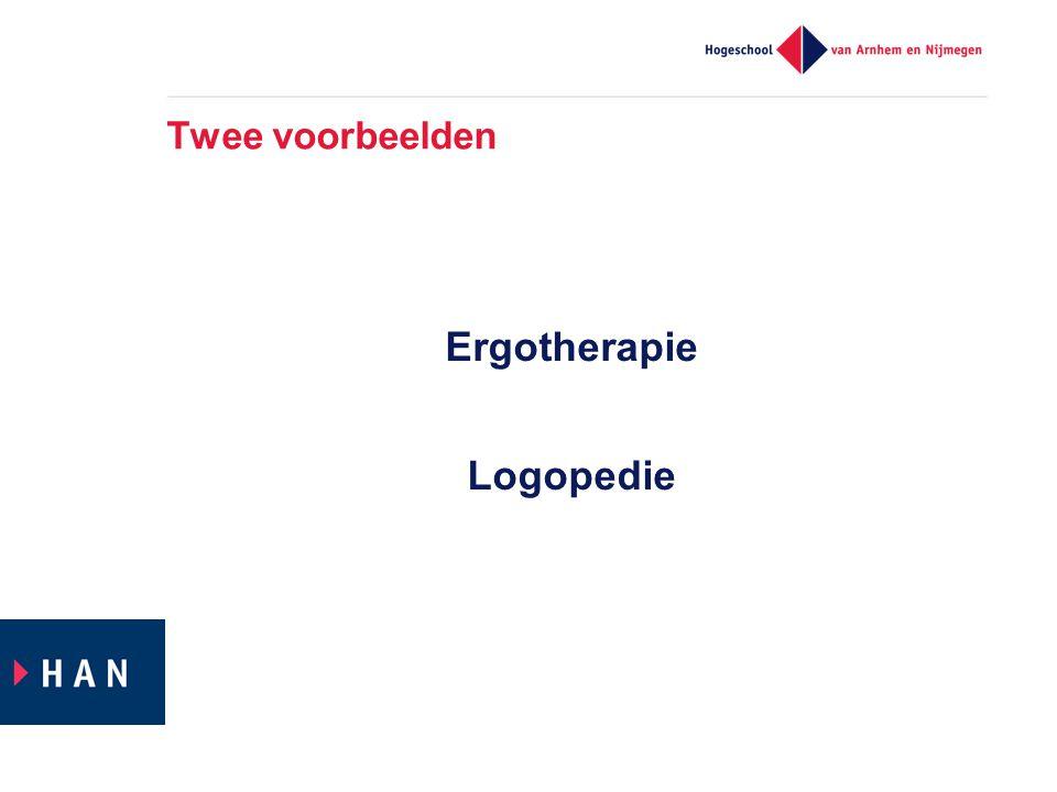 Twee voorbeelden Ergotherapie Logopedie