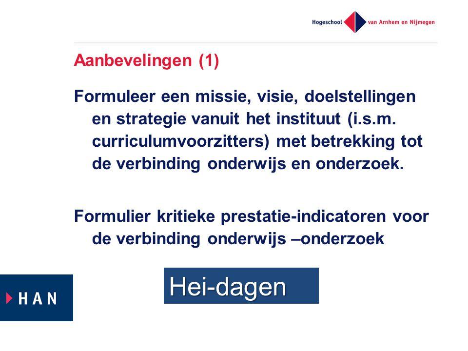 Formuleer een missie, visie, doelstellingen en strategie vanuit het instituut (i.s.m.