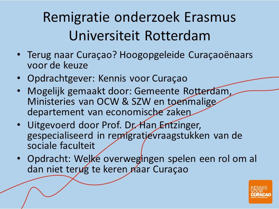 Remigratie onderzoek Erasmus Universiteit Rotterdam • Terug naar Curaçao.