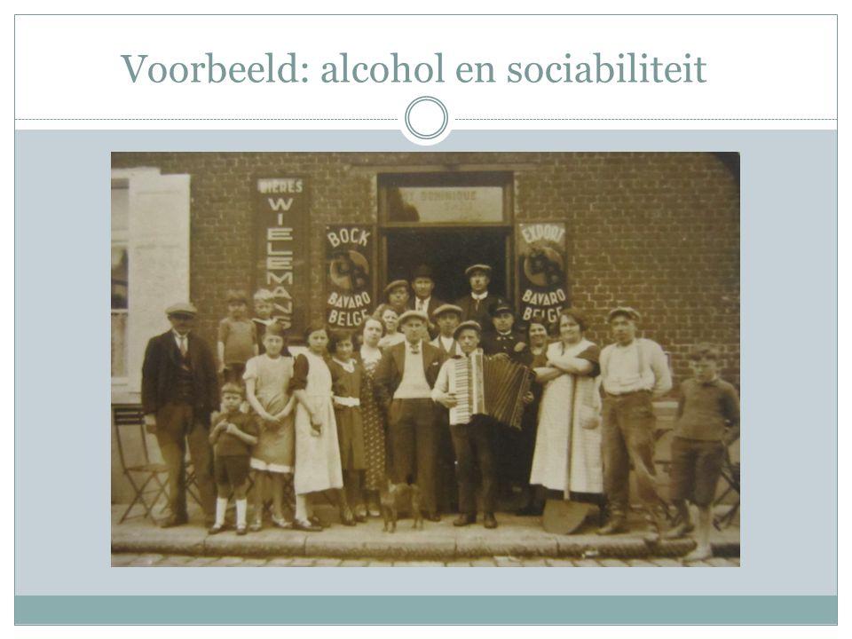 Voorbeeld: alcohol en sociabiliteit