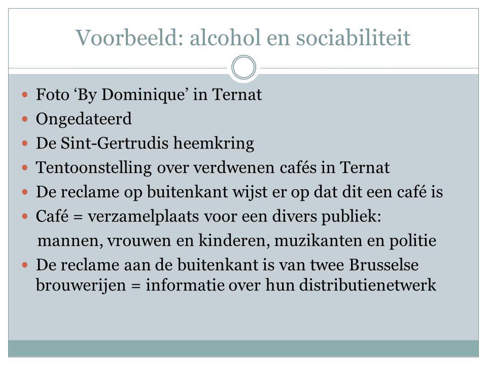  Foto 'By Dominique' in Ternat  Ongedateerd  De Sint-Gertrudis heemkring  Tentoonstelling over verdwenen cafés in Ternat  De reclame op buitenkan