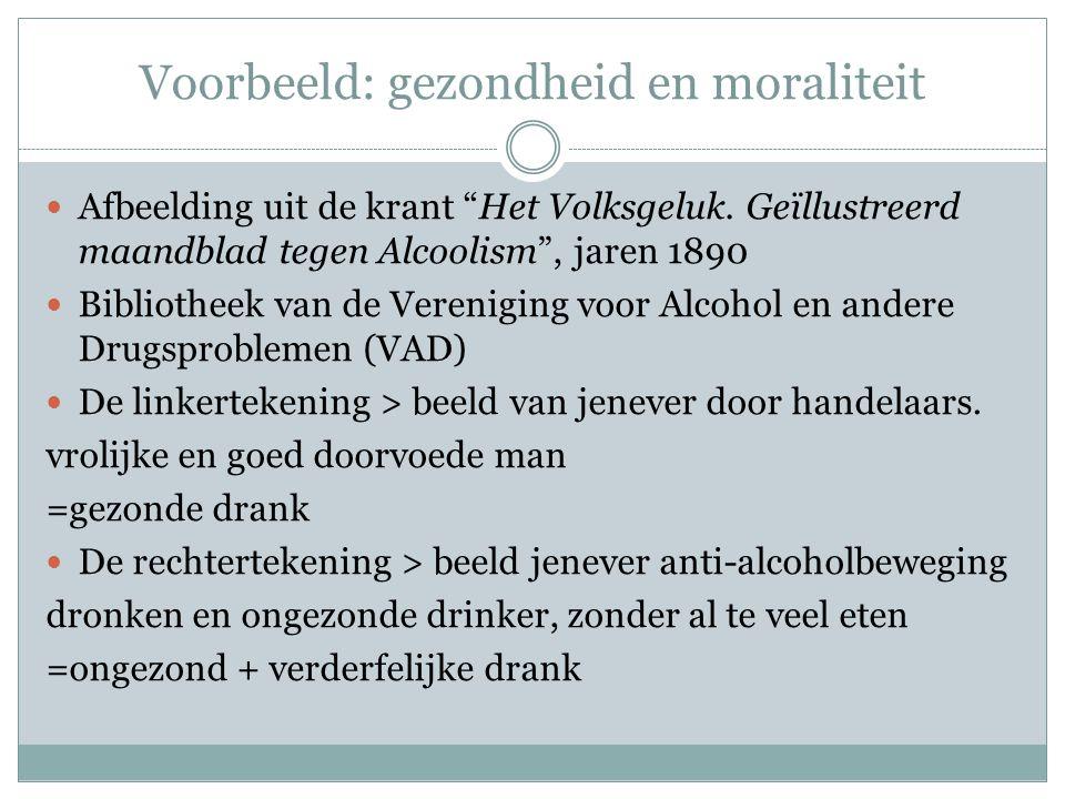 """ Afbeelding uit de krant """"Het Volksgeluk. Geïllustreerd maandblad tegen Alcoolism"""", jaren 1890  Bibliotheek van de Vereniging voor Alcohol en andere"""