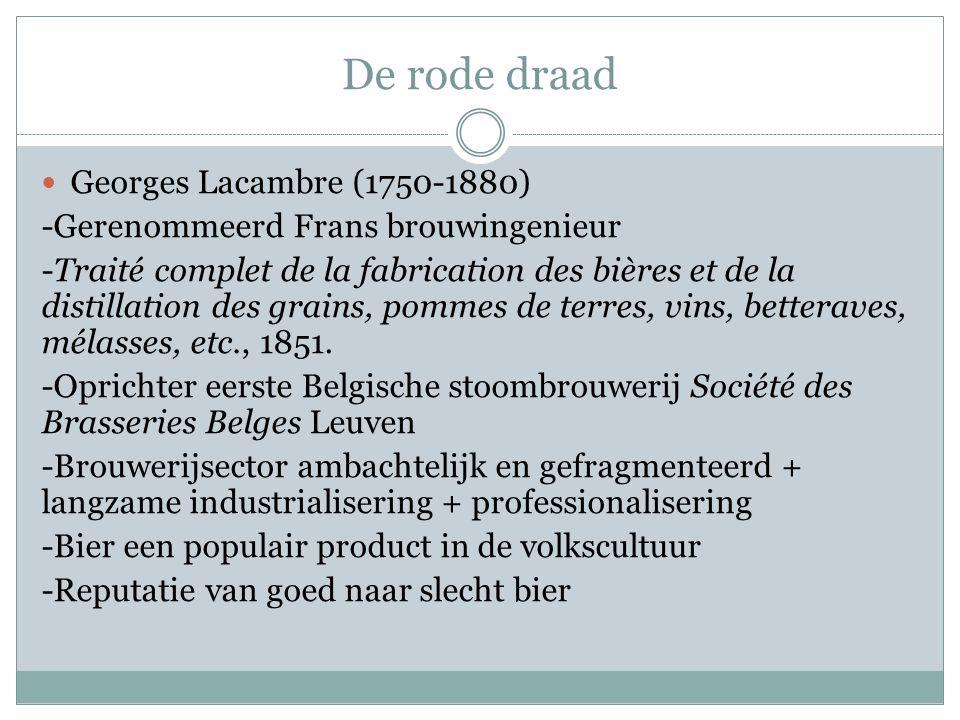De rode draad  Georges Lacambre (1750-1880) -Gerenommeerd Frans brouwingenieur -Traité complet de la fabrication des bières et de la distillation des