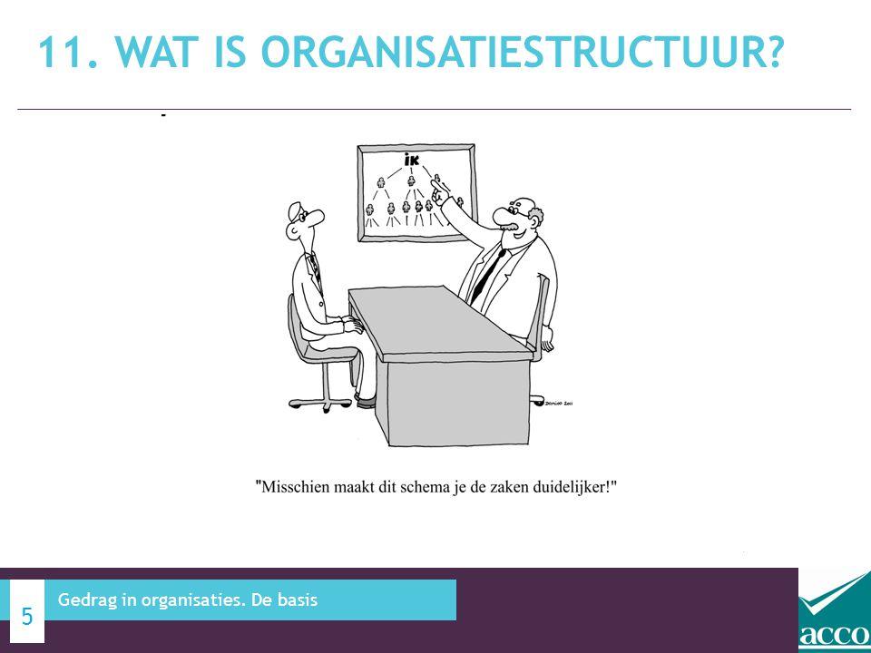 11. WAT IS ORGANISATIESTRUCTUUR? 5 Gedrag in organisaties. De basis