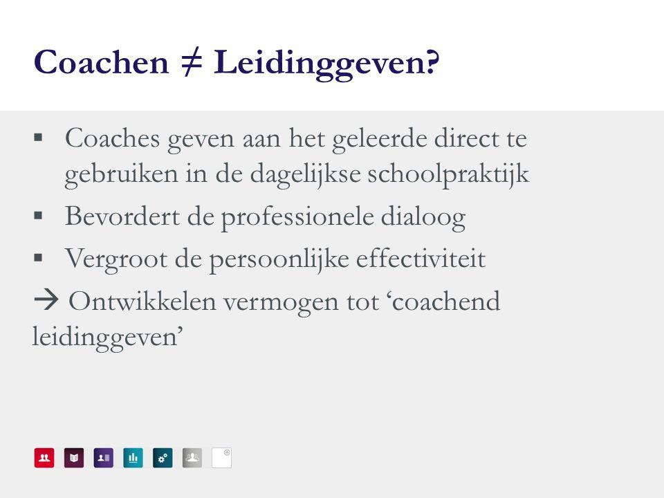 Coachen ≠ Leidinggeven.