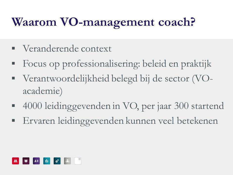Waarom VO-management coach.