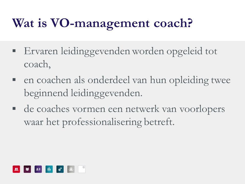 Wat is VO-management coach.