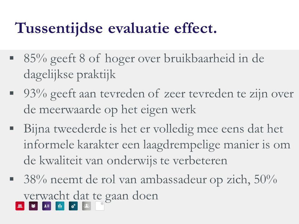Tussentijdse evaluatie effect.