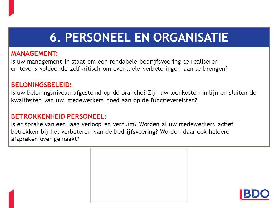 Client name - Event - Presentation title 6. PERSONEEL EN ORGANISATIE MANAGEMENT: Is uw management in staat om een rendabele bedrijfsvoering te realise