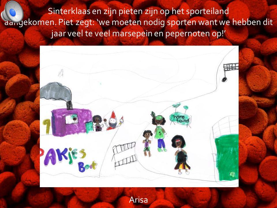 Sinterklaas op het sporteiland • Dit digitale prentenboek is gemaakt door: • Arisa, Fabiënne, Amane, Floor, Luna en Siem