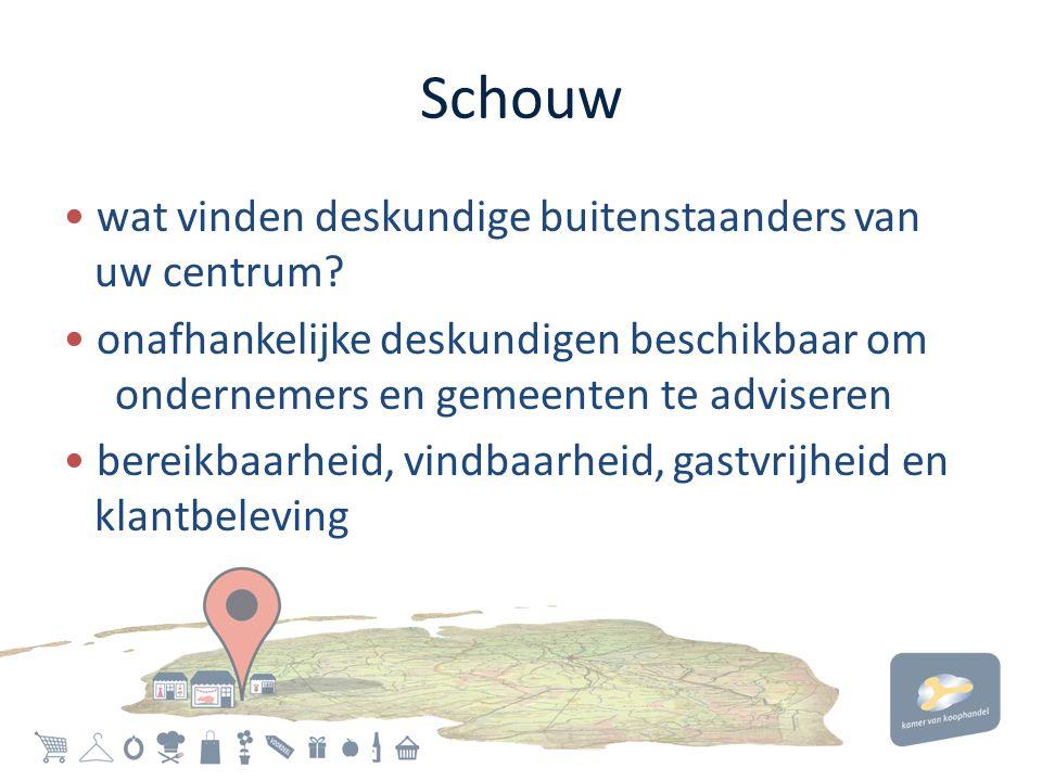 Schouw • wat vinden deskundige buitenstaanders van uw centrum.